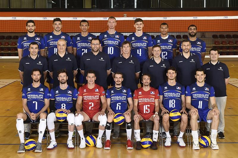 La compo chaussures de l'équipe de France de volley championnat du monde  2018
