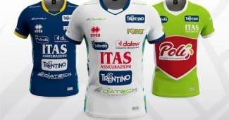 Image de l'article Trentino Volley et Errea dévoilent les maillots 2018-2019