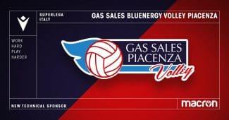 Image de l'article Gas sales Bluenergy Volley Piacenza signe un nouveau partenariat avec Macron